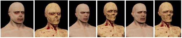 morph target additionnés zombies