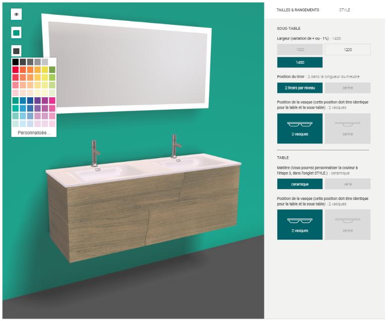 configurateur 3D salle de bain