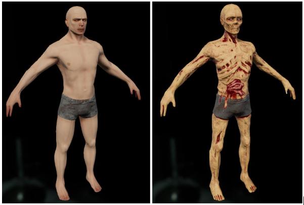 morph target zombie