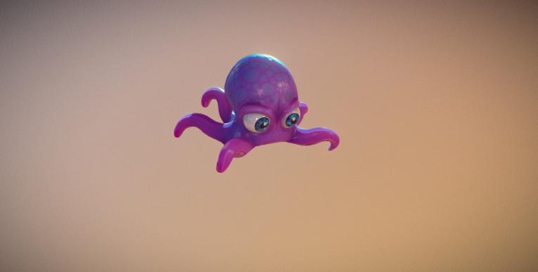environnement sobre poulpi 3D