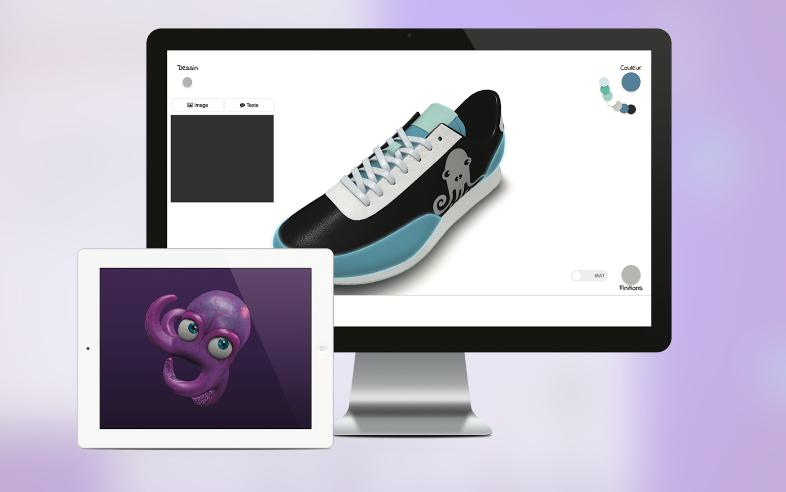 Configurateur 3D de chaussure