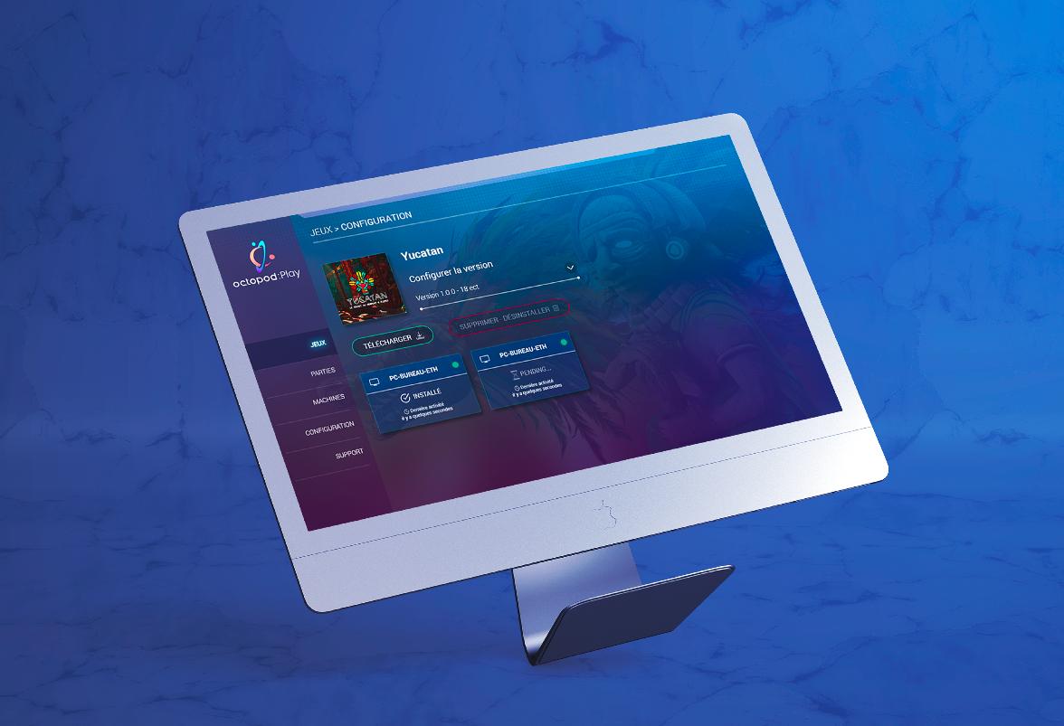 Octopod:Play, le logiciel de gestion de salle VR